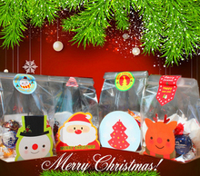 500pcs Christmas biscuit bag Apple Candy Bag Apple cow candy cake packaging bag flat bag bottom card