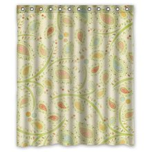 "CozyBath Floral Print Waterproof Polyester Fabric 60""(w) x 72""(h) Shower Curtain and Hooks(China)"