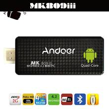 MK809III Bluetooth Android 4.4 TV Stick Dongle HDMI Mini PC Quad Core ARM Cortex A9 Rockchip RK3188T 1.4GHz 2G/8G Wifi XBMC DLAN