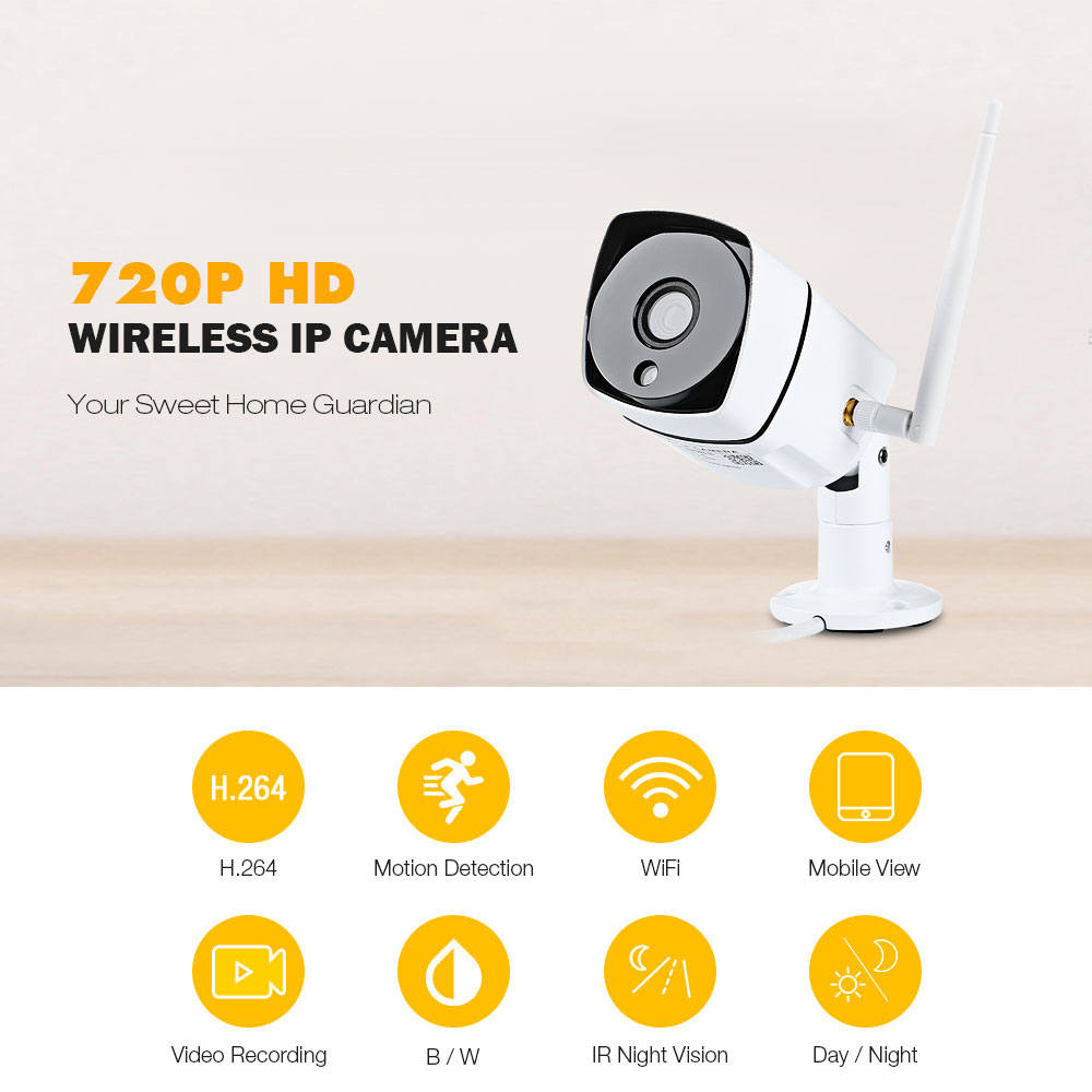 FIMEI SN-IPC-HR02 Wireless HD IP Camera 720P WiFi Security Camera CCTV Infrared Video Surveillance Camera Monitor<br>