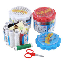 Japan Convenient Portable Design Sewing Kit Crochet Full Set Threader Needle Measure Tape Scissor Sewing Kit Box Home Tool(China)