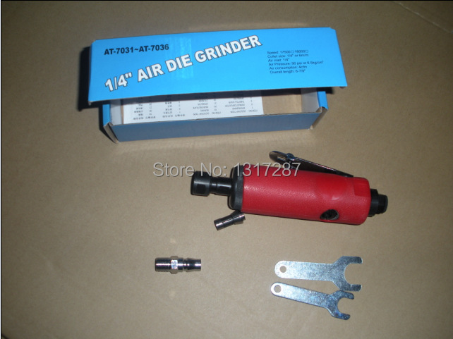 7033 red soft coated air die grinder pneumatic grinding tool air grinder 1/4 6mm 3mmEU ITALY GERMANY USA JAPAN type connector<br>