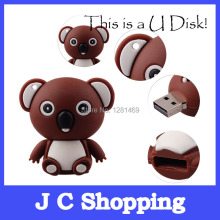usb flash drive cartoon lovely Australian koala model usb 2.0 memory flash stick pen drive u flash disk 2G 4G 8G free shipping(China)