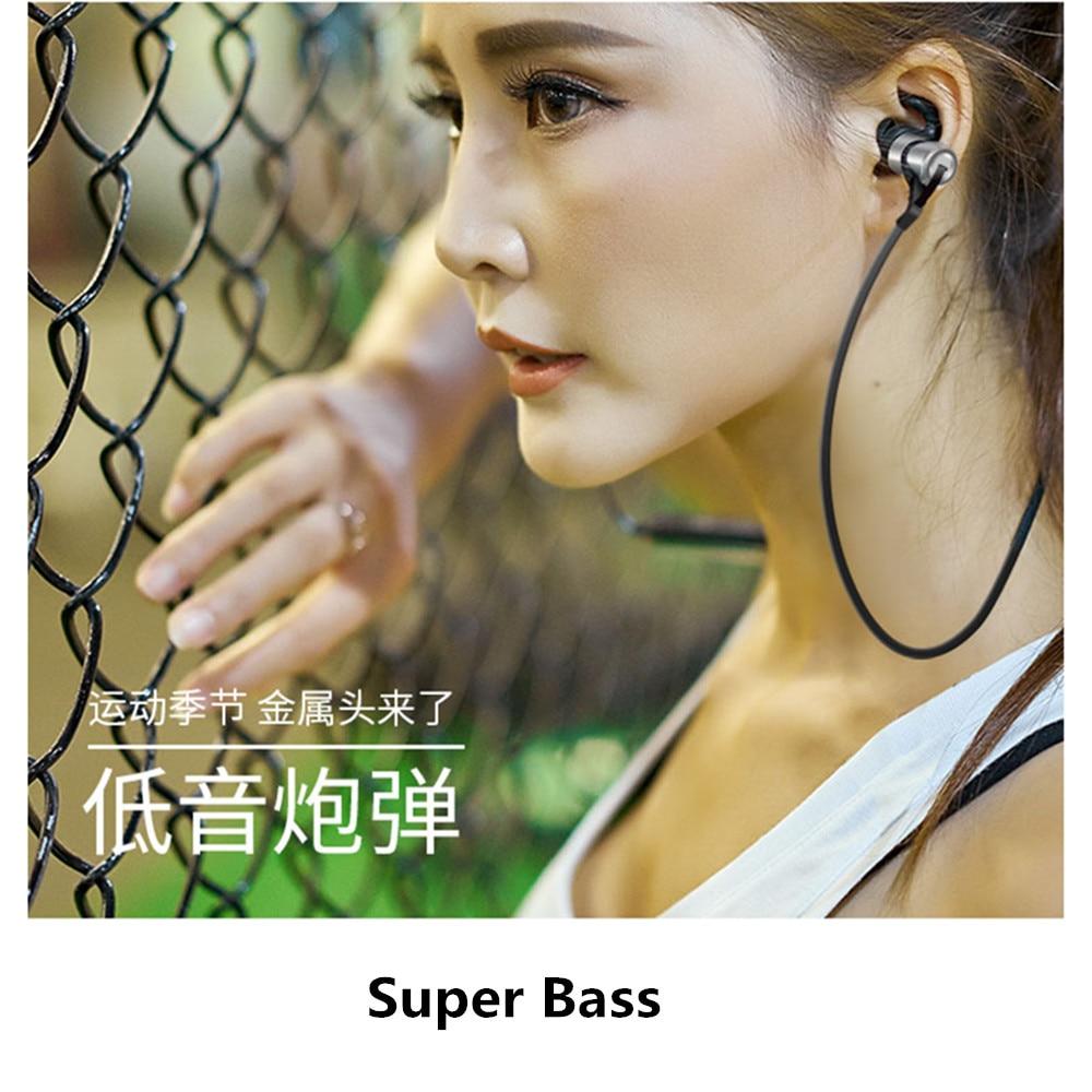 D9 Sports Wireless Bluetooth Earphone V4.1 Anti-sweat Metal Headset Earbuds Earphones with Mic In-Ear for huawei xiaomi