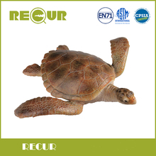 Recur Toys Sea Turtle Chelonioidea Model High Quality Hand Painted Soft PVC Marine Life Animal Toys Gift Collections For Kids