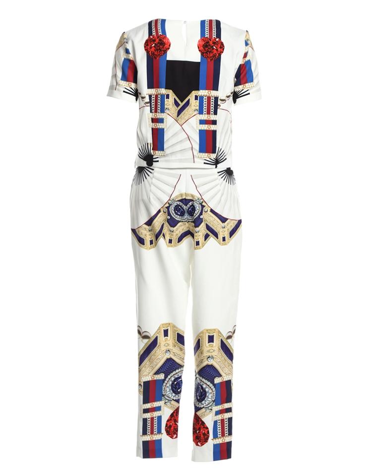 High Quality 17 Designer Runway Suit Set Women's Two Piece Casual Tops + Fashion Print Mid Calf Pants Set suit Free DHL Aramex 12