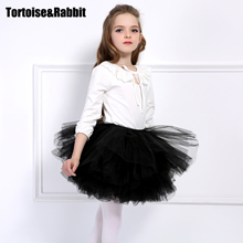 Fashion Girls Tutu Super Fluffy 6 Layer Pettiskirt Princess Dance Tutu Skirt Kids Maxi Cake Skirt Children Clothes for 2-7Ys