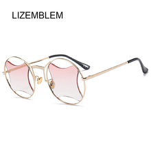 2018 Hot Sales Fashion Eyewear Unisex Round Sunglasses Women Fashion Quadrilateral Style Sun glasses For women zonnebril dames(China)
