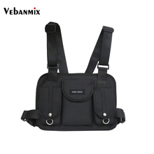 Vebanmix 2018 fashion chest rig waist bag hip hop streetwear functional tactical chest bag cross shoulder bags bolso Kanye West(China)