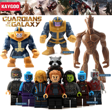 Kaygoo Guardians of the Galaxy Groot Baby Tree Man Ronan Rocket Raccoon Star Lord Drax figure Building Block Kids Toys Gift