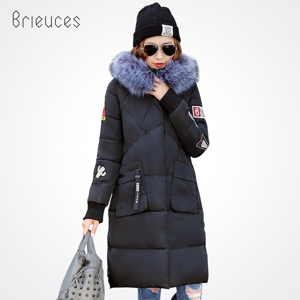 Brieuces 2017 Jacket Female New Women Winter Jacket Down Cotton Epaulet Jacket Coat Slim Parkas Lady Coat fashion OutwearÎäåæäà è àêñåññóàðû<br><br>