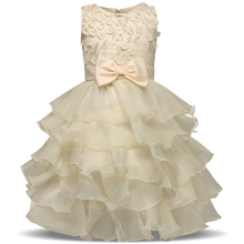 Children's Princess Dresses For Girl Party Frocks Kids Prom Gown Designs Little Girl Clothes Party Wear roupa infantil menina(China)