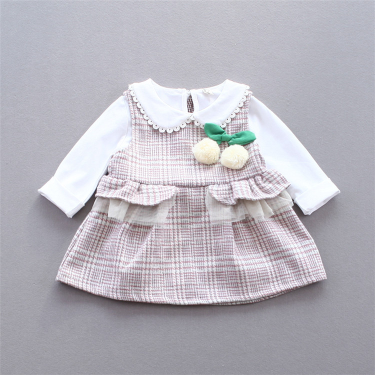 2pcs/set Cotton Baby Girl Set For Babies Kids Skirt Clothes Suit Infant Set Baby Children Skirt YD128<br><br>Aliexpress