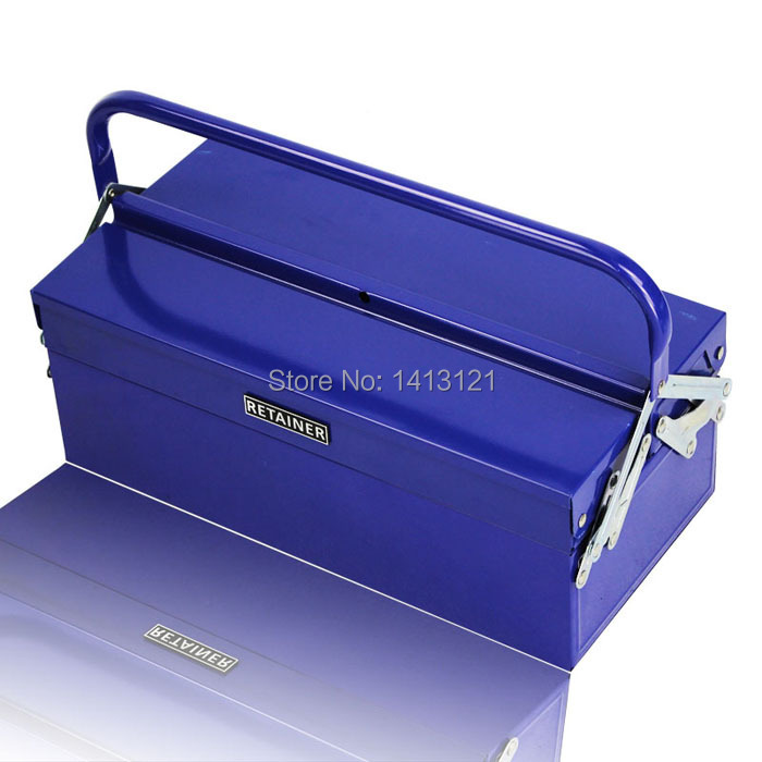folded metal toolbox electrician repair box tool case hardware tool storage box home Tools Packaging <br>