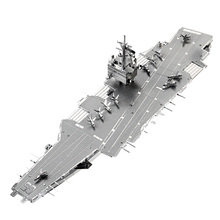 2017  3D Metal Puzzle USS ENTERPRISE CVN-65 Aircraft Carrier P083-S DIY 3D Laser Cut Assemble Models Toys For Audit