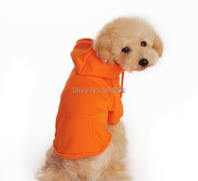 Blank Dog Cotton Hoodies Puppy Pets Sports Tracksuit Clothes Plain Colors XS-XXL 4Colors(China)