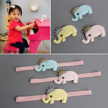 1 PCS New Fashion Cute Elephant Crown Kids Hairpins Baby Hair Clips Princess Barrette Children Headwear Girls Hair Accessories