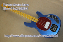 Top Selling China Metallic Blue Finish 4 String Electric Bass Guitars Maple Fingerboard Guitar Neck For Sale