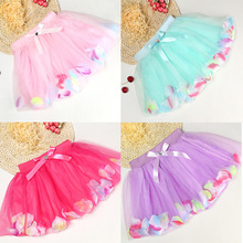 2016 New Summer Baby Girl Lace Skirt Fashion Tulle Bow Princess Tutu Skirts Candy Colors Girl Clothing Cake Skirt Ball Gown Kids