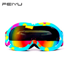 Double Lens Kids Ski Goggles Double UV400 Anti-fog Mask Glasses Skiing Girls Boys Snowboard Goggles Brand Quality