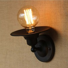 American Vintage Wall Lamp for Indoor Outdoor lighting,Retro Industry Wall Lights with Edison Bulb for Bedroom,Black 220V E27(China)