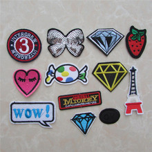 1pcs sell fashion style hot melt adhesive applique embroidery patch DIY clothing accessory patches stripes C910-C852