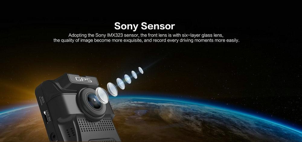 Azdome GS65H Mini Dual Lens Car DVR Camera 1080P Full HD Dash Cam Novatek 96655 Video Recorder G-sensor Night Vision 6
