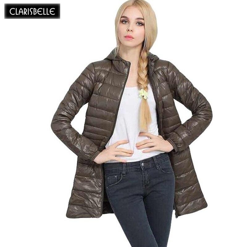 Coat CLARISBELLE 2017 Parka Coat For Women Thin Cotton-Padded Womens Jacket Autumn Winter Hooded Jackets Womens Quilted Coat Îäåæäà è àêñåññóàðû<br><br>