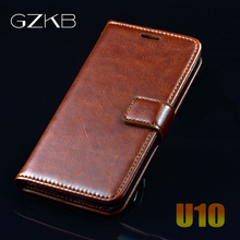 For Meizu U10 Case Cover GZKB Luxury Leather Flip case For Meizu U10 U 10 Ultra Thin Business Wallet Phone Bags Case Cover(China)
