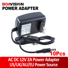 10pcs/lot  AC DC adapter 12V 2A camera 12V power supply CCTV Security Camera POWER SUPPLY ADAPTER