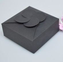 size: 10.5*10.5*4cm black Gift Packaging Kraft Paper Box For Jewelry Event Party Wedding red Soap Packaging boxes