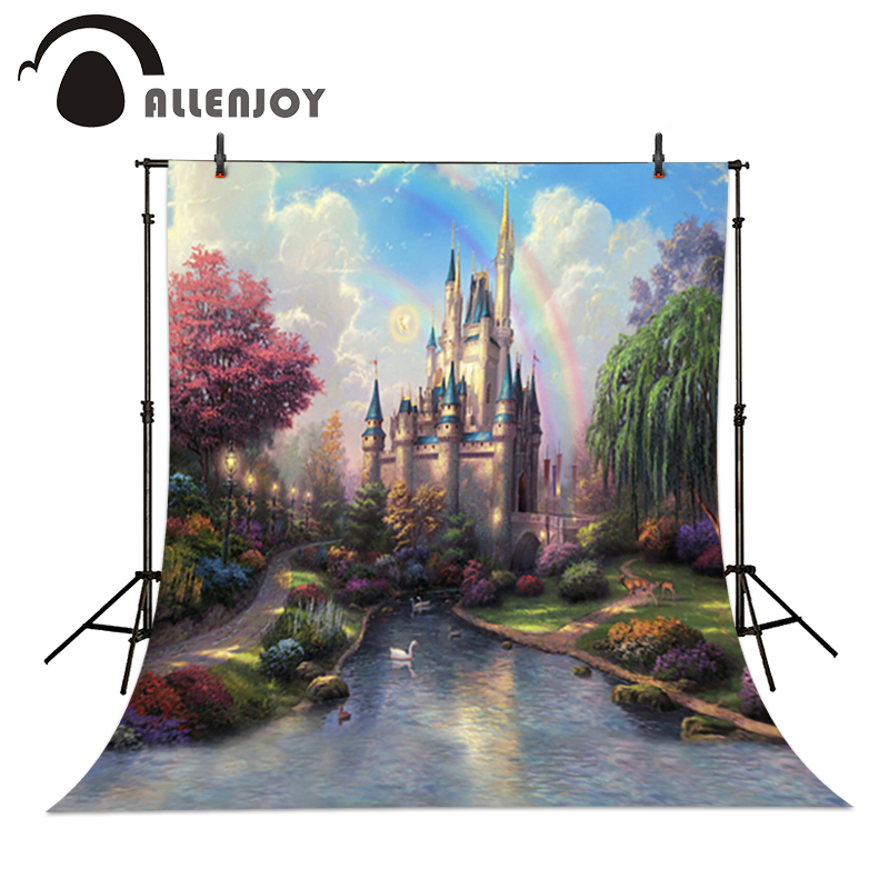 Allenjoy photo studio backdrop baby Castle Creek Cartoon toile de fond studio photo 5x7ft(150x220cm)<br><br>Aliexpress