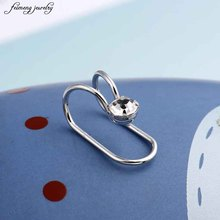 New Fashion Star Moon Heart Big Girl Earrings Gift Women Without Pierced Earrings Fake Ear Bones Clip 1pair to friends Gift(China)
