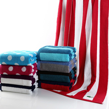 European and American style colorful cotton yarn-dyed color bath towel/beach towel Striped spots thicken soft adult home Textile