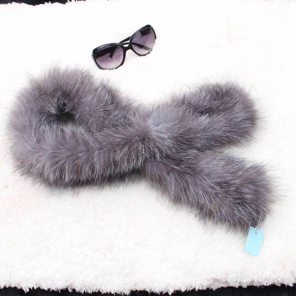 fox fur scarf silver fox color