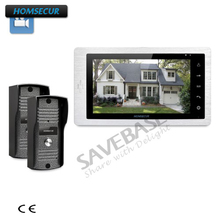 "HOMSECUR 2V1 7"" Video Door Entry Phone Call System+IR Night Vision for Home Security(China)"