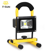 T-SUNRISE LED Flood Light Rechargeable Portable Outdoor Lighting Floodlight 10W Waterproof for Camping Fishing Emergency Light(China)