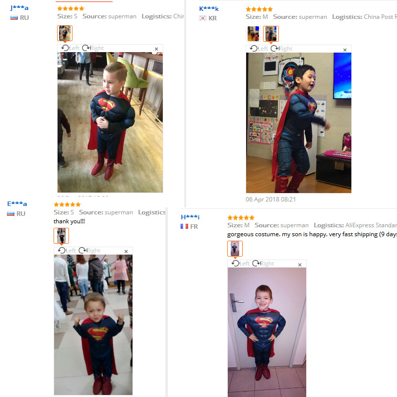 Kids Cospaly Deluxe Muscle Superman Costume Halloween Party Muscle Christmas Superman For Boys Girls Full Body Superman Suit (1)