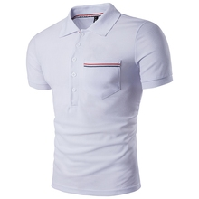 New White Men Polo Shirt Polo Homme 2017 Summer Mens Fashion Solid Color Short Sleeve Polo Shirt Brands Casual Slim Fit Polos