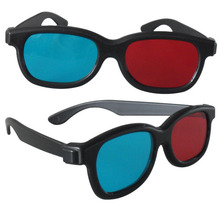2Pcs/lot Universal Version Blue And Red 3D Glasses Home Use Cheap Price For TV Movie Video Projector 3D Eye Glass Free Shipping(China)