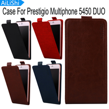 AiLiShi Luxury Up And Down Flip For Prestigio Multiphone 5450 DUO Case Hot Sale Protective Cover Skin PU Leather Case In Stock(China)