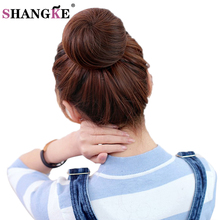 SHANGKE Short Straight Hair Pieces Clip In Hair Extensions Heat Resistant Synthetic Hairpieces Women Hairstyles Fake Hair Pieces