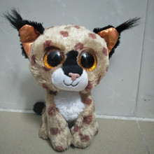 "Ty Beanie Boos 6"" 15cm Buckwheat the Lynx Plush Stuffed Animal Collectible Big Eyes Doll Toy(China)"