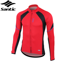 SANTIC Anti-sweat Summer Outdoor Sportswear Bike Jersey Cycling Clothing Bicycle Long Sleeves Jersey Jacket -Rhythm, 2 Colors