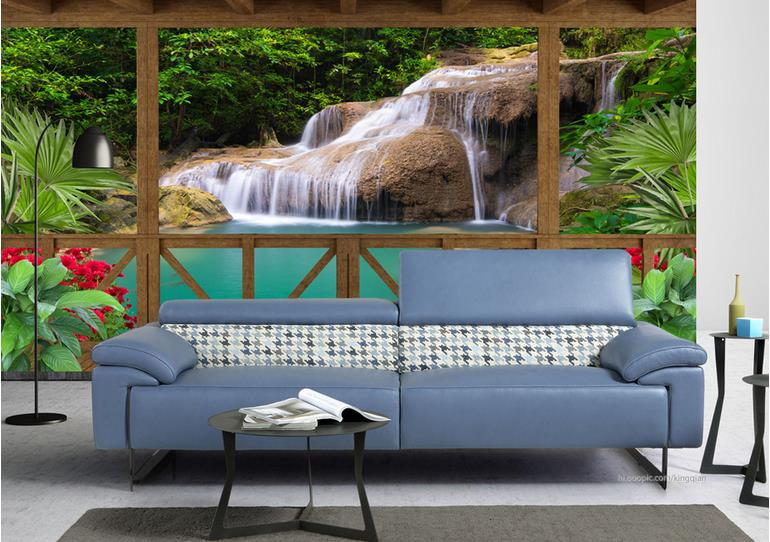 Nature Landscape Wallpaper 3d Custom Photo Wallpaper For Living Room Waterfall TV Background Wall Papers Papel De Parede<br>