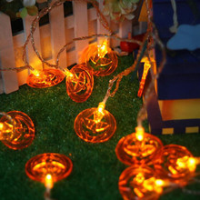20 LED Pumpkin Lanterns String Lights For Halloween Party Indoor Outdoor Decor