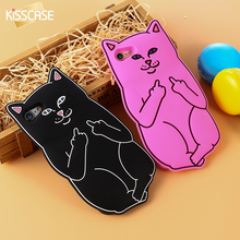 Buy KISSCASE 3D Cute Cartoon Pocket Cat Silicone Case iPhone 7 7Plus 6 6s Plus Luxury Soft Silicon Rubber Cover iPhone 5S 8 for $2.99 in AliExpress store