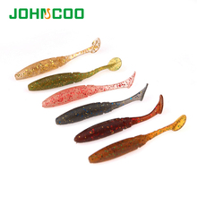 JOHNCOO 26pcs Soft Bait 50mm 1g T-Tail Fishing Lure Fake Fish Silicone Baits Swimbait Wobblers Plastic Lure Pasca Shad Lure(China)