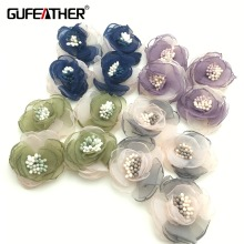 GUFEATHER Flowers pendant tassels/Jewelry making materials/Brooch production/Wedding decoration materials/flower tassel