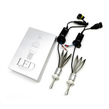 Hoping R3 Car LED Headlight 80W 9600LM Aluminum Headlamp conversion Kit white H1 H7 H11 H4 9006HB4 9005hb3(China)